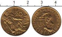 Изображение Монеты Европа Сан-Марино 20 лир 1994 Латунь UNC