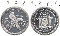Изображение Монеты Северная Америка Белиз 1 доллар 1974 Серебро Proof