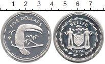 Изображение Монеты Северная Америка Белиз 5 долларов 1974 Серебро Proof