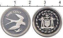 Изображение Монеты Северная Америка Белиз 1 цент 1974 Серебро Proof