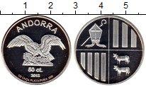 Изображение Монеты Европа Андорра 50 сантим 2013 Серебро Proof-