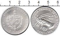 Изображение Монеты Северная Америка Куба 5 песо 1983 Серебро UNC