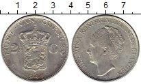 Изображение Монеты Нидерланды Кюрасао 2 1/2 гульдена 1944 Серебро XF