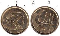Изображение Монеты Испания 5 песет 2001 Латунь UNC Хуан Карлос
