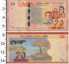 Изображение Банкноты Боливия 20 боливиано 2018  UNC