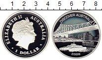 Изображение Монеты Австралия 1 доллар 2008 Серебро Proof Открытие Австралии,