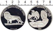Изображение Монеты Африка Конго 10 франков 2002 Серебро Proof