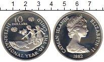 Изображение Монеты Каймановы острова 10 долларов 1982 Серебро Proof-