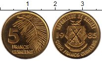 Изображение Монеты Гвинея 5 франков 1985 Латунь XF
