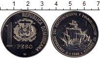Изображение Монеты Северная Америка Доминиканская республика 1 песо 1988 Медно-никель UNC-