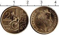 Изображение Мелочь Австралия и Океания Австралия 2 доллара 2018 Латунь UNC