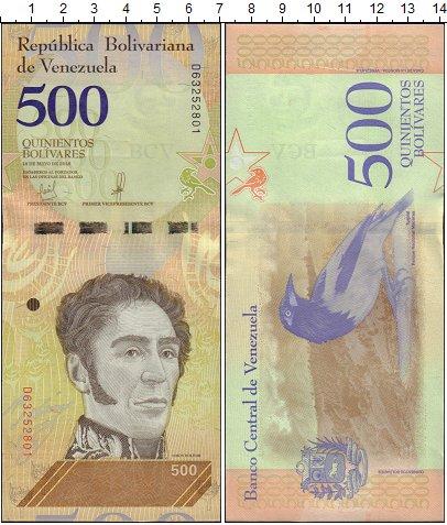 Изображение Банкноты Венесуэла 500 боливар 2018  UNC
