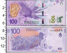 Изображение Банкноты Аргентина 100 песо 2018  UNC