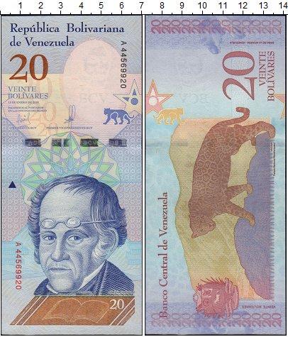Изображение Банкноты Южная Америка Венесуэла 20 боливар 2018  UNC