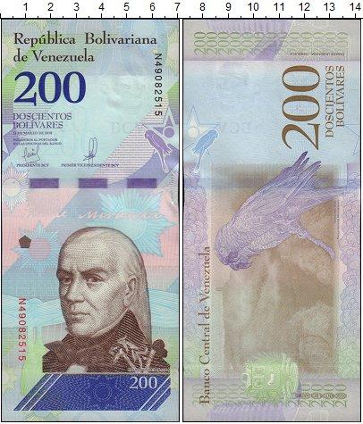 Изображение Банкноты Венесуэла 200 боливаров 2018  UNC