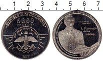 Изображение Монеты Южная Америка Колумбия 5000 песо 2017 Медно-никель UNC-