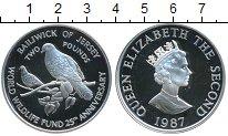 Изображение Монеты Великобритания Остров Джерси 2 фунта 1987 Серебро Proof-