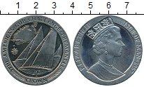 Изображение Монеты Остров Мэн 1 крона 1987 Медно-никель Proof- Кубок Америки, яхты