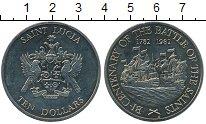 Изображение Монеты Северная Америка Сент-Люсия 10 долларов 1982 Медно-никель UNC-