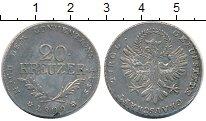Изображение Монеты Австрия Тироль 20 крейцеров 1809 Серебро XF