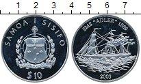 Изображение Монеты Самоа 10 долларов 2003 Серебро Proof- Корабль Адлер