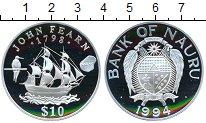 Изображение Монеты Науру 10 долларов 1994 Серебро Proof- Корабль