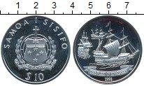 Изображение Монеты Австралия и Океания Самоа 10 долларов 1992 Серебро Proof-