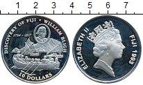 Изображение Монеты Фиджи 10 долларов 1993 Серебро Proof- Корабль, Открытие Фи