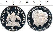 Изображение Монеты Африка Уганда 100 шиллингов 1981 Серебро Proof-