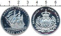 Изображение Монеты Сан-Марино 5000 лир 1995 Серебро Proof- Америго  Веспуччи