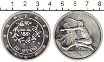 Изображение Монеты Греция 10 евро 2004 Серебро Proof- Олимпиада Афины 2004