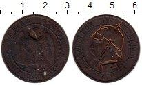 Изображение Монеты Европа Франция 2 сантима 1854 Бронза VF