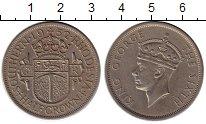 Изображение Монеты Великобритания Родезия 1/2 кроны 1952 Медно-никель VF