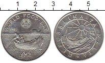 Изображение Монеты Европа Мальта 2 фунта 1981 Серебро UNC-