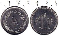 Изображение Монеты Азия Турция 2 1/2 лиры 1977 Медно-никель UNC