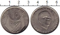 Изображение Монеты Африка Руанда 10 франков 1964 Медно-никель XF