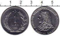 Изображение Монеты Азия Турция 1 лира 1980 Медно-никель UNC