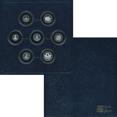 Изображение Подарочные монеты Великобритания Остров Джерси Набор 1983 года в серебре 1983 Серебро Proof