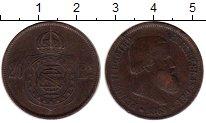 Изображение Монеты Бразилия 20 рейс 1869 Медь XF-
