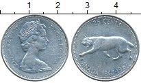 Изображение Монеты Канада 25 центов 1967 Серебро XF