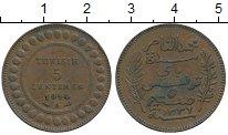 Изображение Монеты Африка Тунис 5 сантим 1914 Бронза XF-