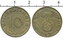 Изображение Монеты Третий Рейх 10 пфеннигов 1937 Латунь XF J