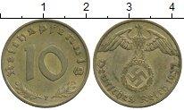 Изображение Монеты Третий Рейх 10 пфеннигов 1937 Латунь XF F