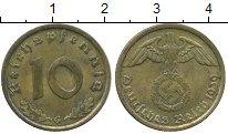 Изображение Монеты Третий Рейх 10 пфеннигов 1939 Латунь XF