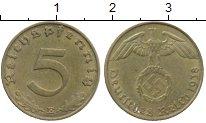 Изображение Монеты Третий Рейх 5 пфеннигов 1938 Латунь XF