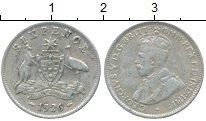 Изображение Монеты Австралия 6 пенсов 1926 Серебро XF-