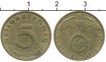 Изображение Монеты Третий Рейх 5 пфеннигов 1938 Латунь XF E