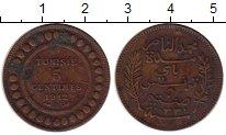 Изображение Монеты Тунис 5 сантим 1912 Бронза XF-