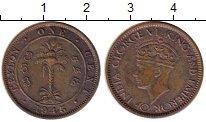 Изображение Монеты Шри-Ланка Цейлон 1 цент 1945 Бронза XF-