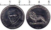 Изображение Монеты Конго 1 франк 2004 Сталь UNC-